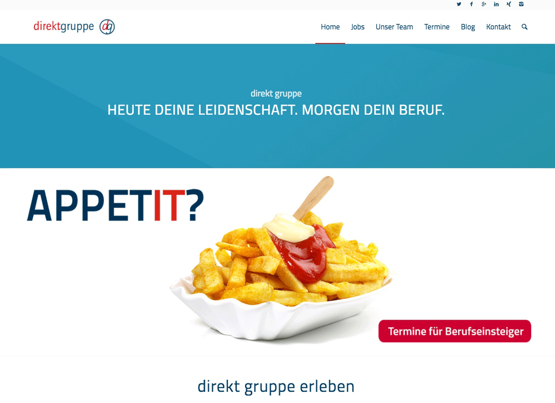 Webseite Direkt Gruppe