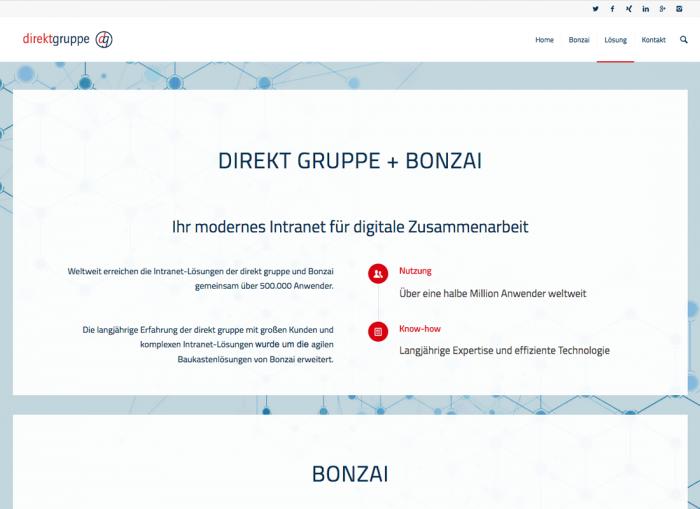 Bonzai Webseite