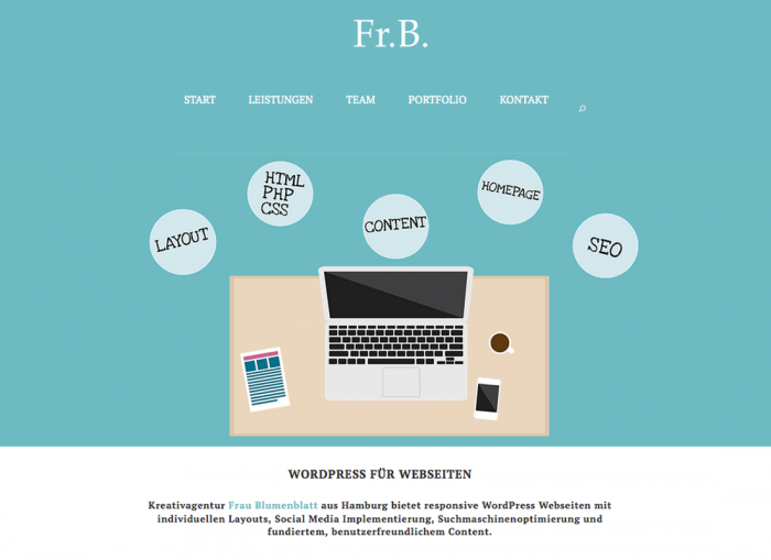 Frau Blumenblatt Wordpress
