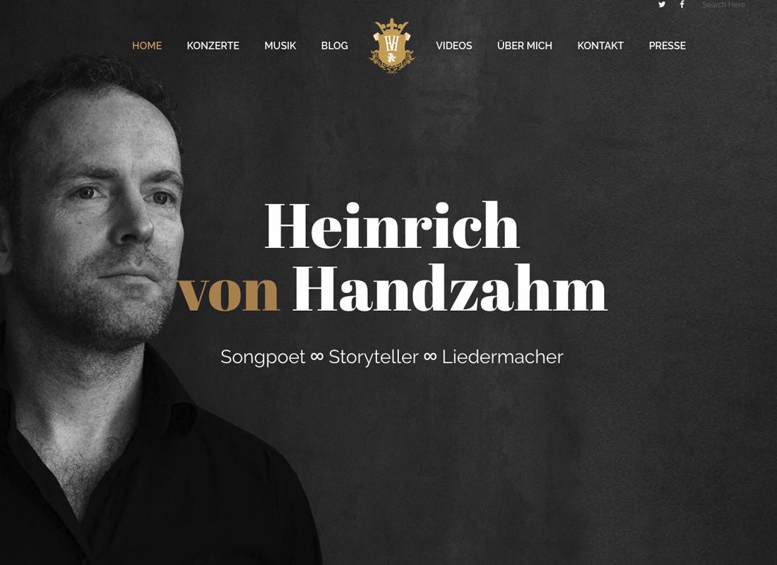 Heinrich von Handzahm Webseite