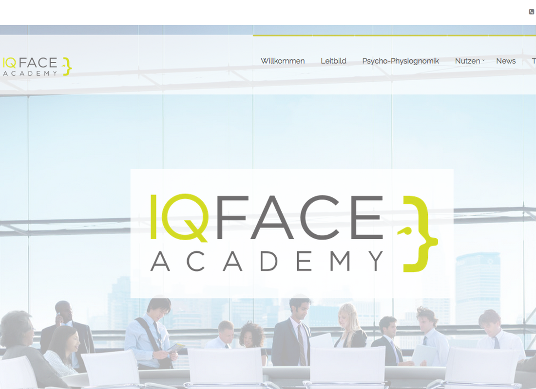 Webseite IQ face academy