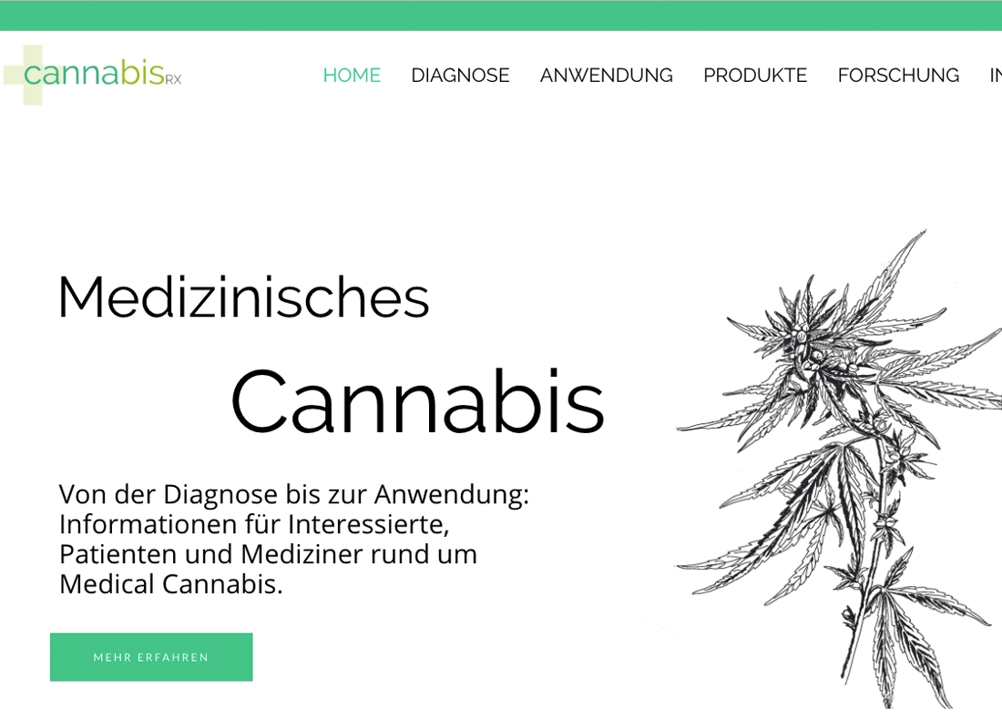 Cannabisrx.de Konzeption Website