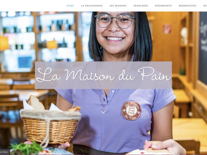 La Maison du Pain Internetseite
